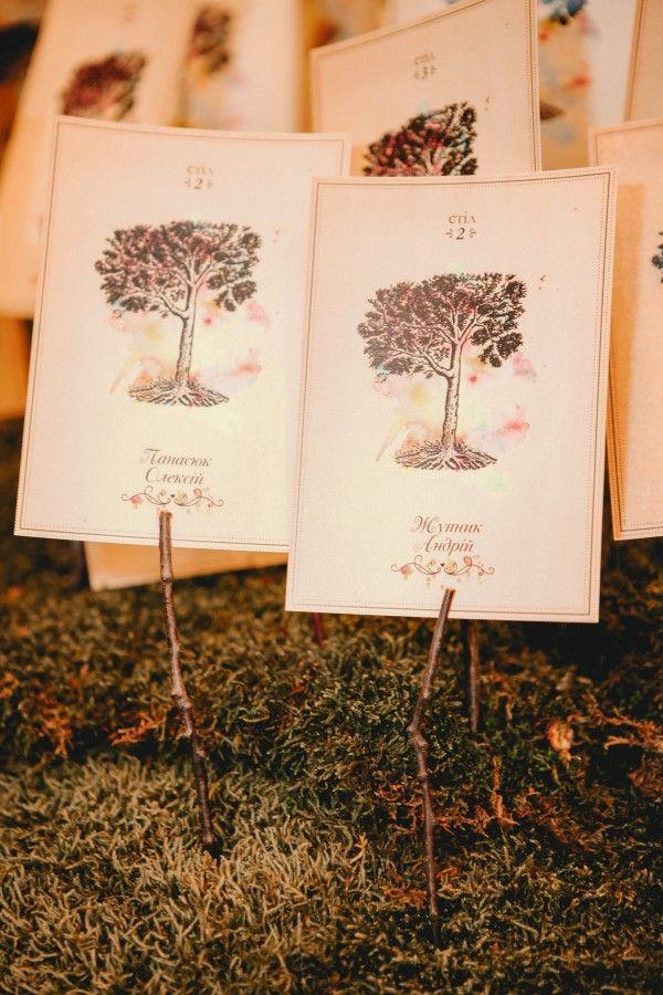 leśne dekoracje na rustykalne wesele