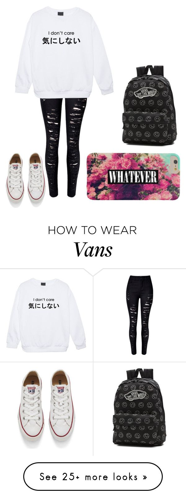 """Untitled #250"" by mad-hattr on Polyvore featuring Vans, Converse, women's clothing, women, female, woman, misses and juniors"