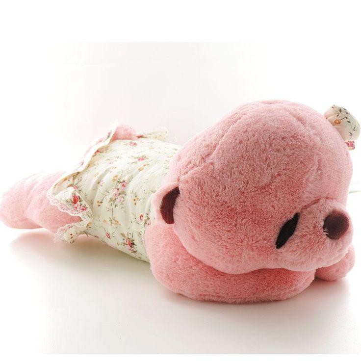 Animal Teddy Pillow : Creative soft toys kawaii plush teddy bears in dreaming stuffed animal cushion small pillow ...
