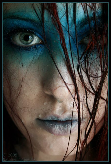 Darken the blue and keep lips pale and cracked a little more blending and you have a drowning victim hellbent on revenge
