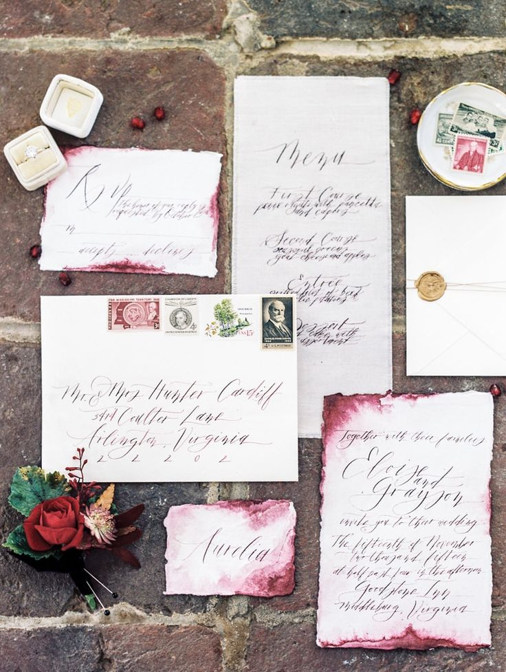 sending wedding invitations months before%0A  wedding invitations  Goodstone Inn Virginia Wedding Inspiration  In the  colder months  it u    s