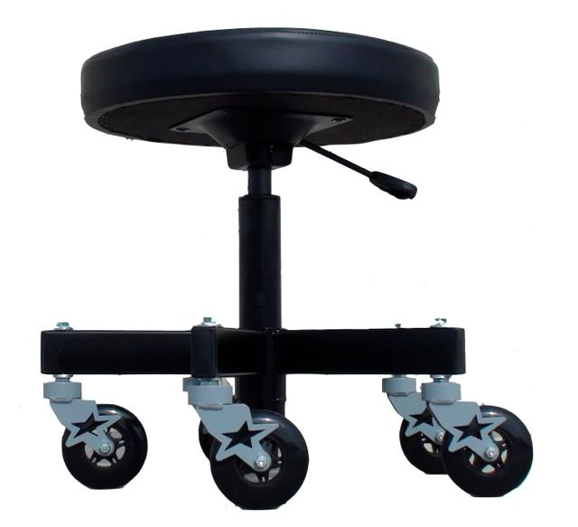 Adjustable 5 Leg Industrial Shop Stool - Car Guy Garage  sc 1 st  Pinterest & 10 best asientos images on Pinterest | Cars Creepers and Garage ideas islam-shia.org