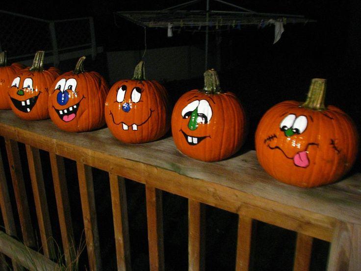 painted pumpkin faces - Halloween Pumpkins Painted