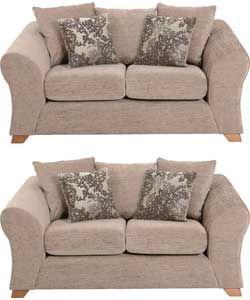 Clara 2 Regular Sofas - Mink.
