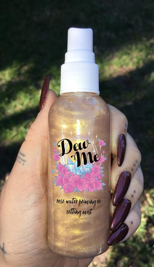 """DEW ME"" Rose Water Priming and Setting Mist - glowcultcosmetics"