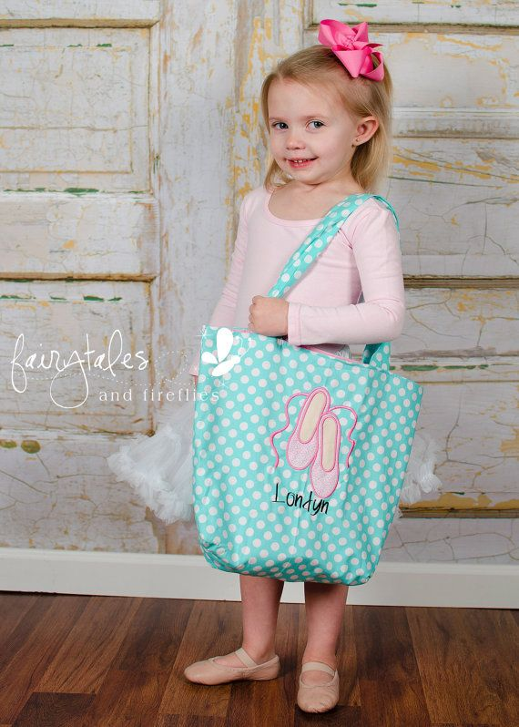 Personalized Girls Dance Bag  Dance Bag  by fairytalesfireflies, $35.00