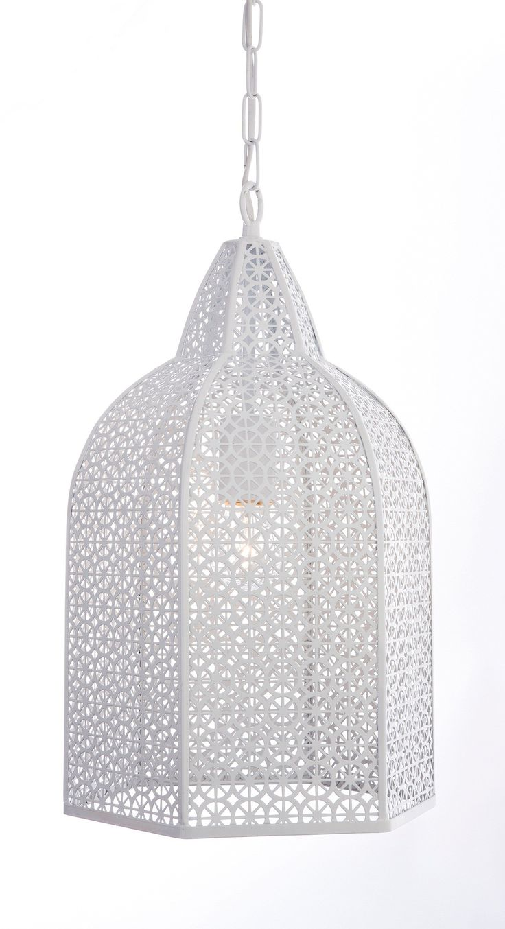 White Metal Moroccan Lamp Pendant Simple And Effective