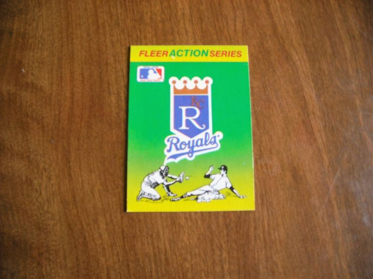 Fleer Action Series Kansas City Royals Baseball Quiz on Back 1990 Fleer Baseball Card (BCQ1) - for sale at Wenzel Thrifty Nickel ecrater store