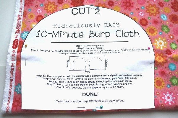 Piecing  a few charm packs to make this 10 Minute Burp Cloth - The Ribbon Retreat Blog