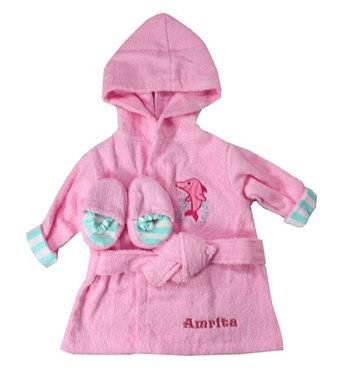 #Girls Personalized Bathrobe Slipper #Gift Set – Sea Theme   - Baby bath #robe and #slippers are #perfect for your baby after a warm #bath.   - Consists of extra absorbent woven terry #cotton that is #soft on baby's sensitive skin. Fits up to 9 months.   - Your #baby will feel very #special having their own robe and slippers and they will be able to have #fun during bath time, and then #relax and unwind in #comfort afterward.  See More best baby Gifts at Affordable Price   goo.gl/g0x9T6…