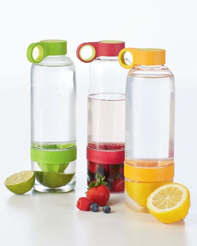 Fruit infused water bottles. Flavored water. Get the natural benefits of lemon or other fruits in your water. Only $18 and free shipping.