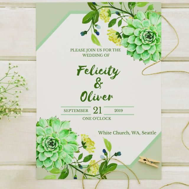Fl Wedding Invitation