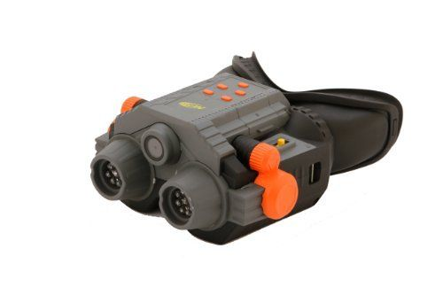 Infrared Nightvision Goggles With Camcorder by Nerf. Save 19 Off!. $72.99. Infrared Nightvision lets you easily spot people darting through the dark. Take video at night when all the fun starts. Since these are goggles, you have your hands-free for action. The goggles let you see up to 10 feet in front of you in the dark. From the Manufacturer                How awesome does a night vision camera sound?! Whether your playing in the dark or are just spying on someone, make sure you've pac...