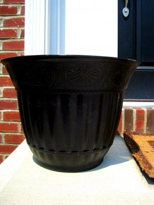Regular Ol Tan Plastic Flower Pot From Painted With Krylon Fusion Spray Paint
