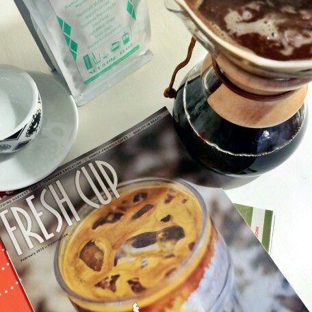 Fresh Warrior Coffee served in Chemex