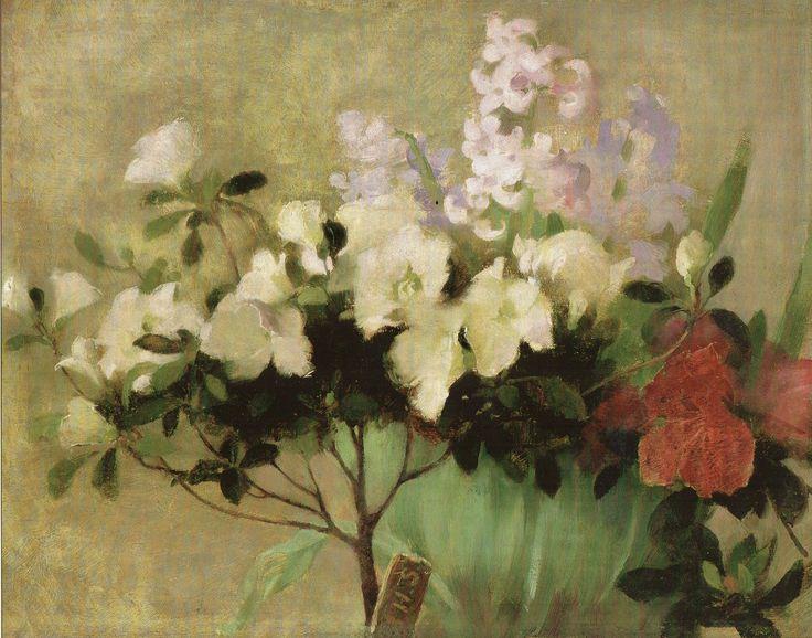 Helene Schjerfbeck - Atsalea ja hyasintteja 1907