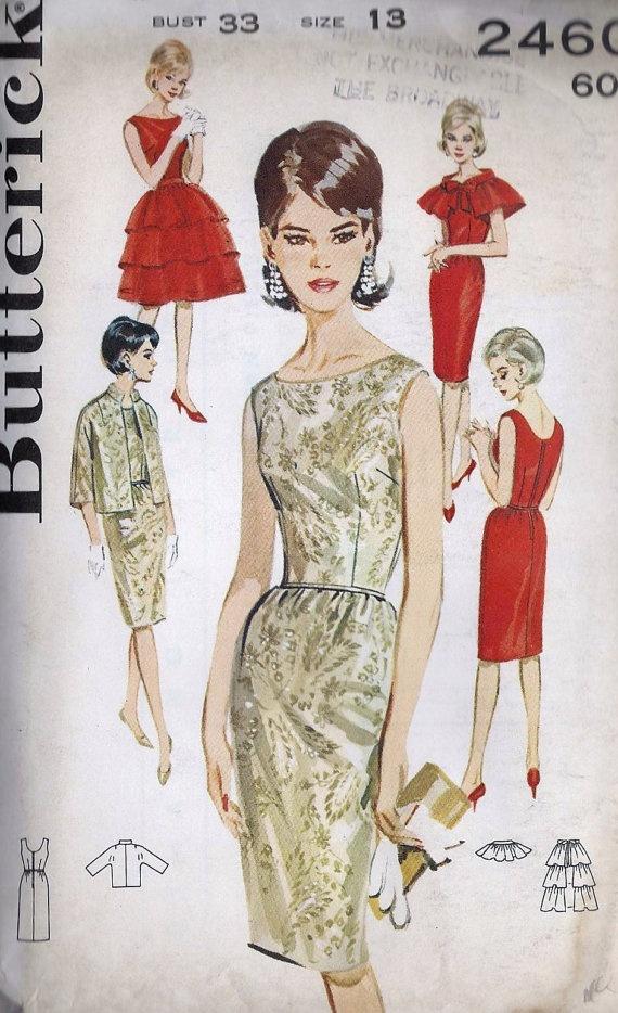 1960s Junior Cocktail Dress. The perfect sheath dress pattern.... i love 60's fashion