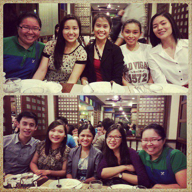 Reunion after 4+ months after grad! some got fatter, while leny got older #lenyjonebirthday