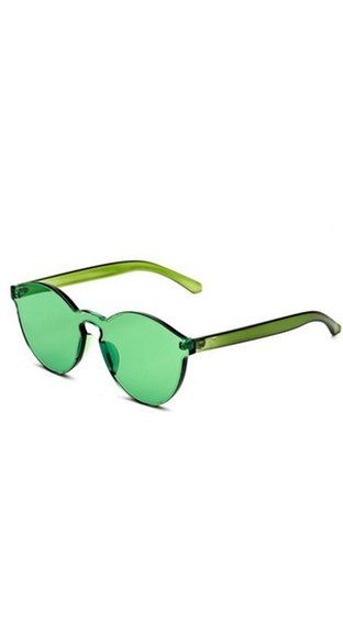 Onepiece Rimless Shades Green