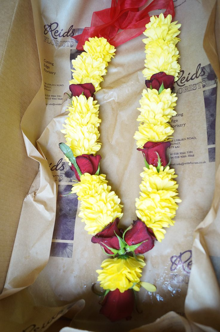 Indian flower garland ready to be delivered