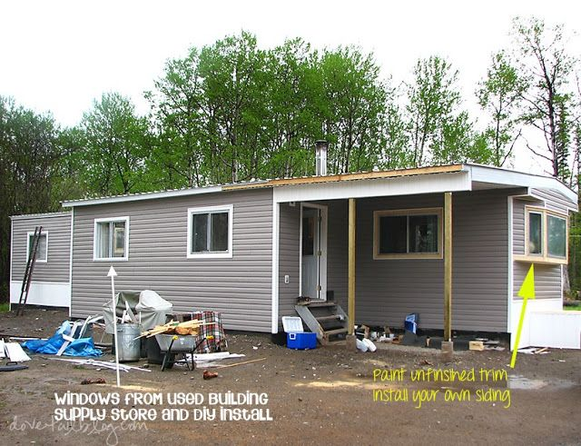 how to properly put on an addition to a mobile home