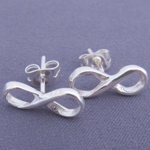 Ohrstecker, Ewigkeit, Infinity, Unendlichkeit,925 Silber, Ohrring, Silberohrring, #InfinitySchmuck, #infinity, #InfinityOhrring