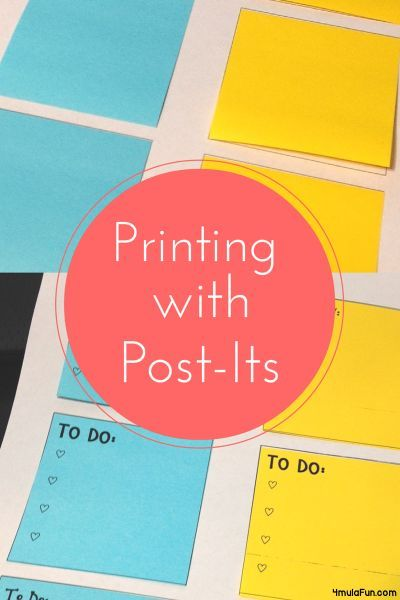 Printing With Post Its- Easy Tutorial and FREE Printables