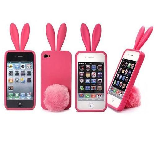 funda para Iphone4 con orejitas de conejo