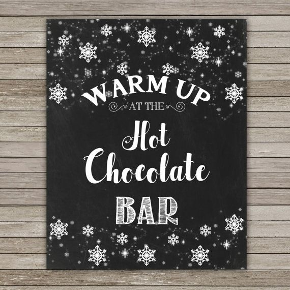 Hot Chocolate Sign 8X10 Hot Cocoa Sign Hot by RainbowSweetStudio