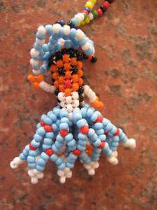 Vintage Beaded Indian Doll Native American Souvenir Seed Bead Necklace | eBay