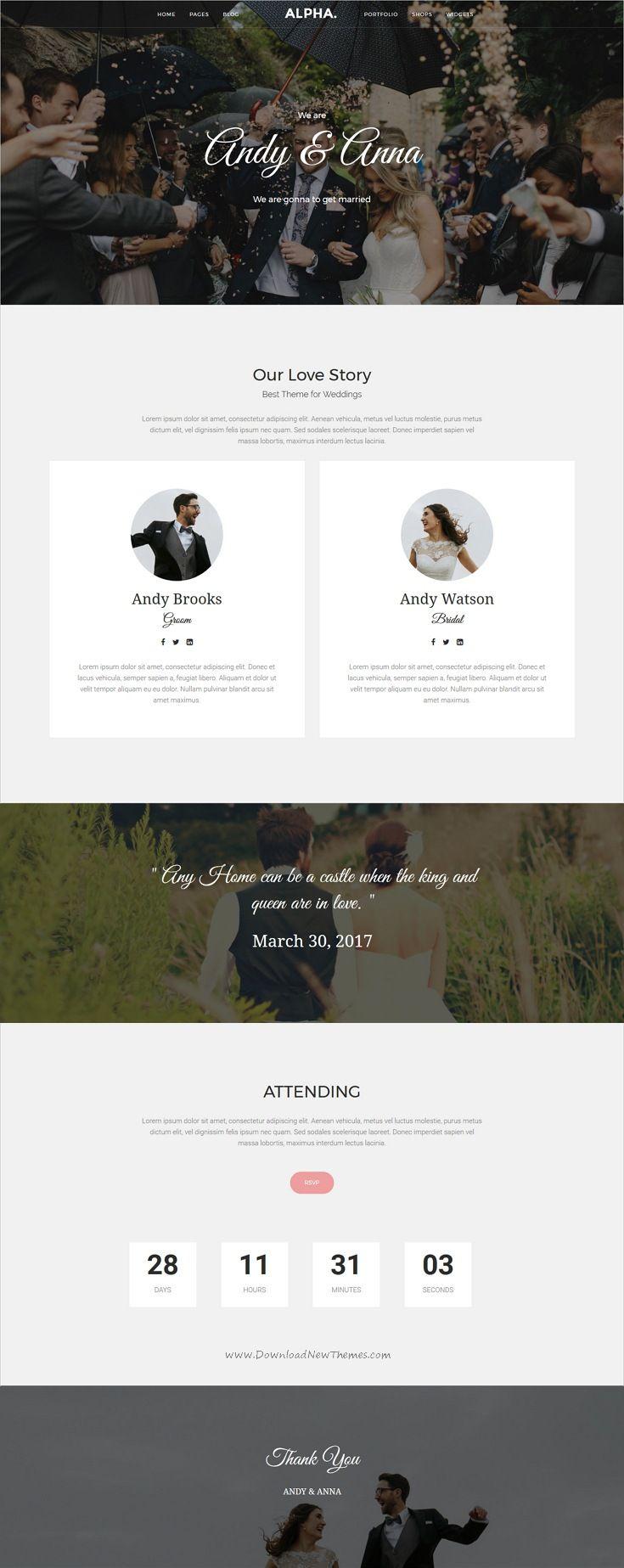 wedding invitation template themeforest%0A Alpha Dot Multi Purpose WordPress Theme  Bootstrap TemplateHtml  TemplatesInvitation WebsitesCreative Wedding