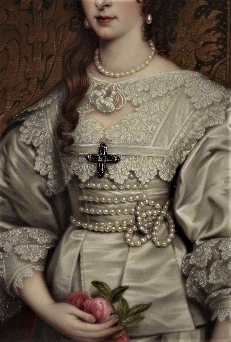 Henriette Marie de France, reine consort d'Angleterre (1609-1669) - Henry Bone