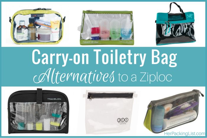 Instead of using a flimsy Ziploc bag for your liquids, why not get one of these more sturdy TSA-approved carry on toiletry bag alternatives.