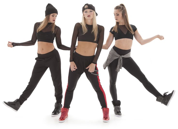 mesh tops and hip hop pants- perfect for hip hop dance costume