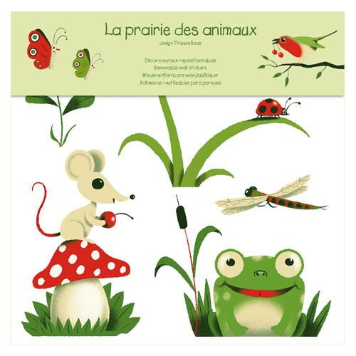 Beautiful Djeco Wandsticker Frosch und Co auf ihrer Wiese Bonuspunkte sammeln auf Rechnung bestellen