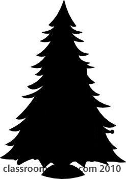 Christmas Tree Silhouette | Silhouettes : christmas-tree-silhouette-14 : Classroom Clipart