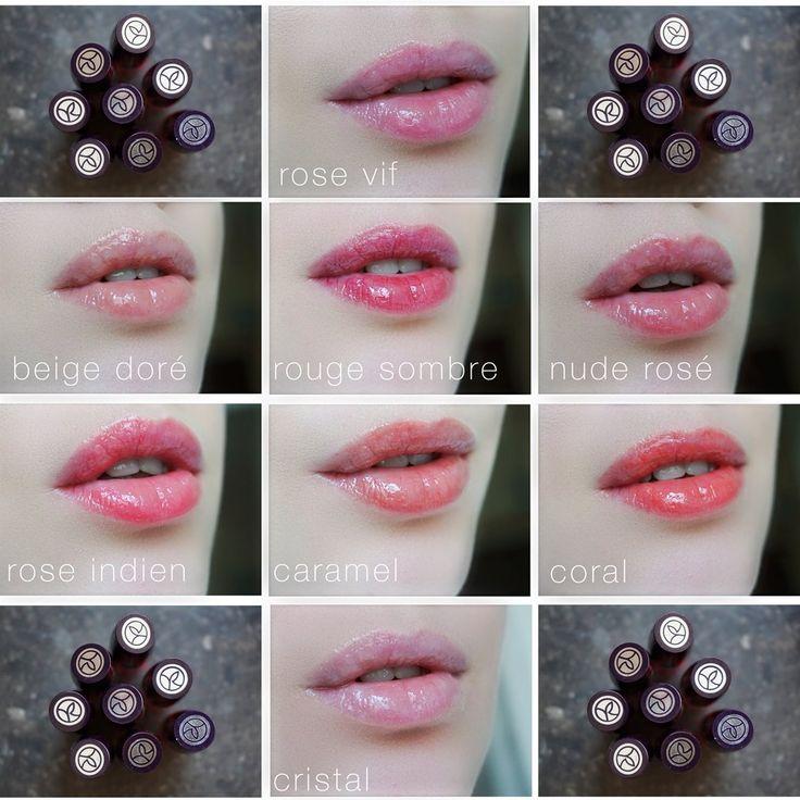 gloss volume sexy pulp - 1 rose vif; 2 beige doré; 3 rouge sombre; 4 nude rosé; 5 rose indien; 6 caramel; 7 corail; 8 cristal