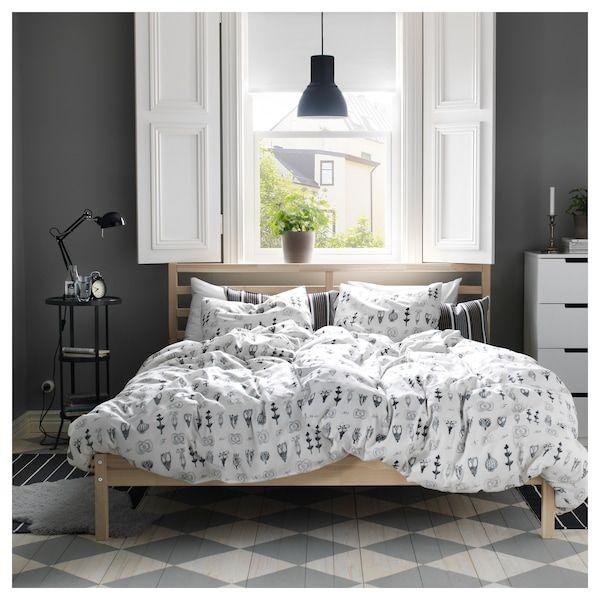 Tarva Bedframe Grenen 140x200 Cm Ikea In 2020 Ikea Bed Frames Bed Frame Ikea Bedroom Design