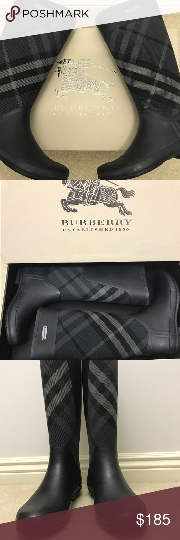 BURBERRY CLEMENCE RAIN BOOTS BURBERRY rain boots   Worn twice   Excellent condition Burberry Shoes Winter & Rain Boots