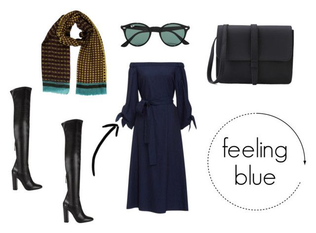feeling blue by danesmit on Polyvore featuring TIBI, Aquazzura, Etro and Ray-Ban