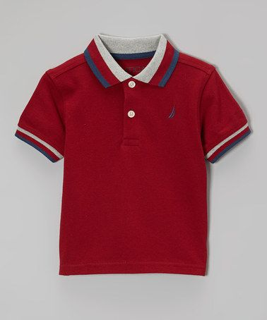 Look what I found on #zulily! Biking Red & White Polo - Infant, Toddler & Boys by Nautica #zulilyfinds