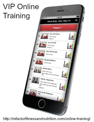 http://mfactorfitnessandnutrition.com/landing-online-2/  Affordable online training and coaching for $10/month.    Affordable online training and coaching for $10/month.  The Ultimate in convenience. Carry your personalized workouts and nutrition plan anywhere with our free app download for your SmartPhone or Tablet.  http://mfactorfitnessandnutrition.com/online-training/