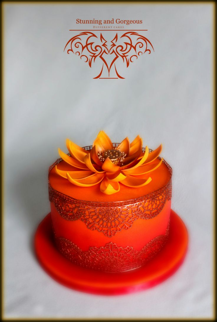 stunningandgorgeous.nl - Indian Lotus Flower cake for my amazing Indian sis in law