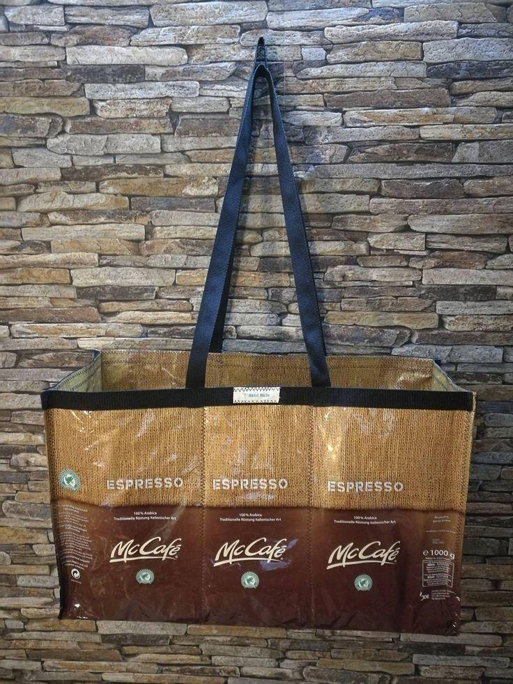 McCafe Kaffeetasche, große Strandtasche, große Einkaufstasche von kavaWerkstatt auf Etsy