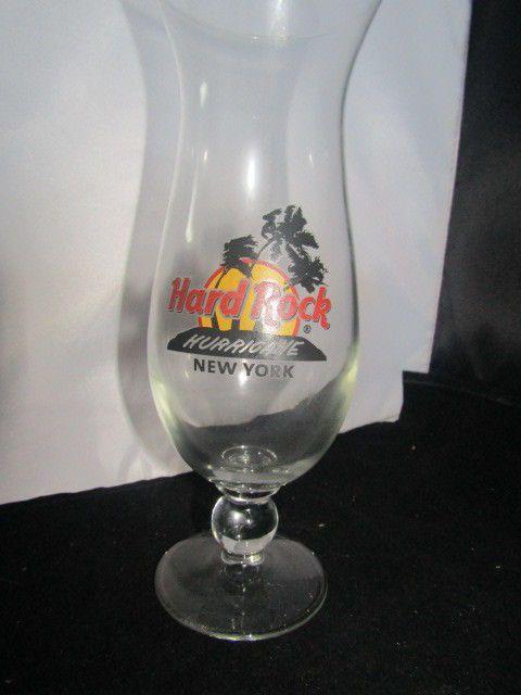 Hard Rock Cafe New York Hurricane Glass