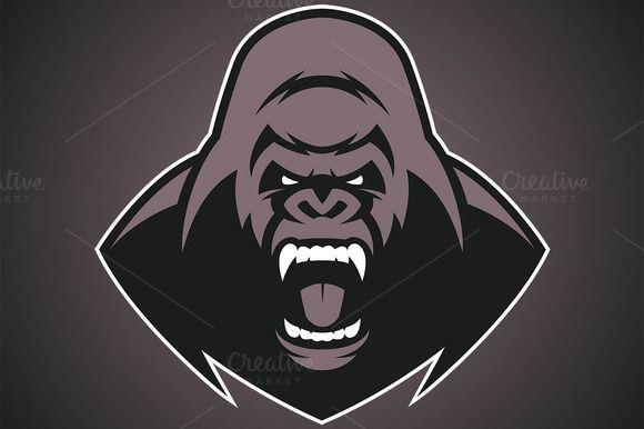 Angry gorilla logo ~ Illustrations on Creative Market