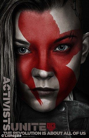 Coming soon: Natalie Dormer and J-Law's posters for the new Hunger Games film show them in full war paint