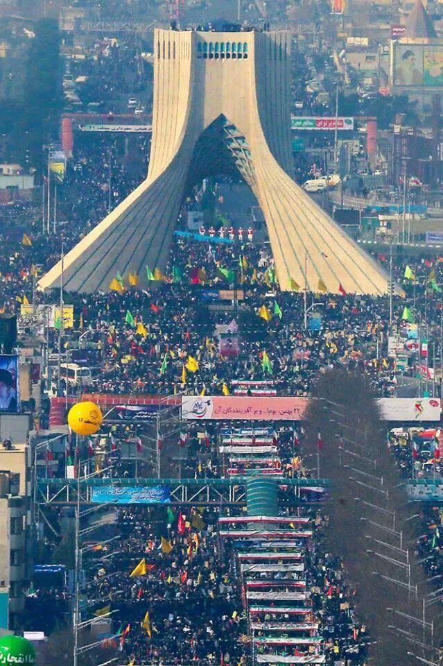 35th Islamic Revolution anniversary celebrations in Azadi Square Tehran