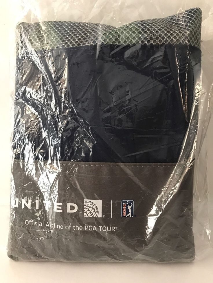 UNITED AIRLINES FIRST CLASS PGA GOLF TOUR AMENITY BAG W/BALLS LE  Factory SEALED