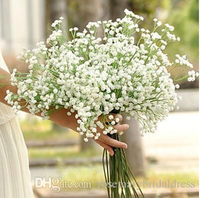 New Arrive Gypsophila Baby's Breath Artificial Fake Silk Flowers Plant Home Wedding Decoration Wedding Bridal Bouquet Bridal Bouquet Wedding Flower Wedding Supplies Online with $113.15/Piece on Rosemarybridaldress's Store | DHgate.com
